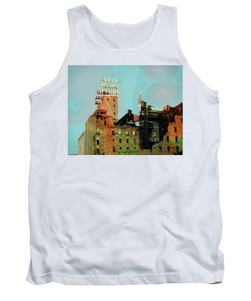Tank Top featuring the photograph Gold Medal Flour Pop Art by Susan Stone