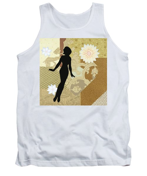 Gold Paper Doll Tank Top