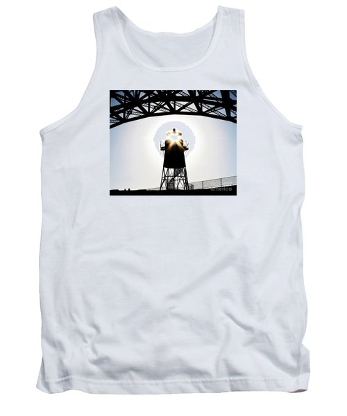 Golden Gate Above Fort Point Tank Top by John King