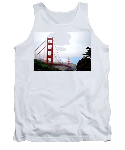 Golden Gate Bridge Full View Tank Top
