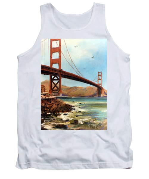 Golden Gate Bridge Looking North Tank Top by Donald Maier