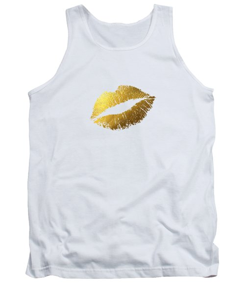 Gold Lips Tank Top