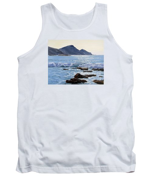 Tank Top featuring the painting Golden Light At Crackington Haven by Lawrence Dyer