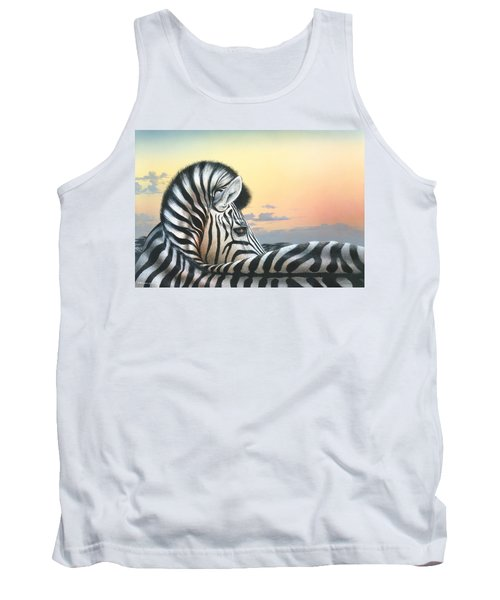 Tank Top featuring the painting Golden Sky by Mike Brown