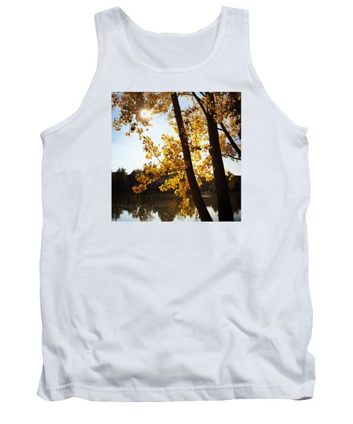 Golden Trees In Autumn Sindelfingen Germany Tank Top