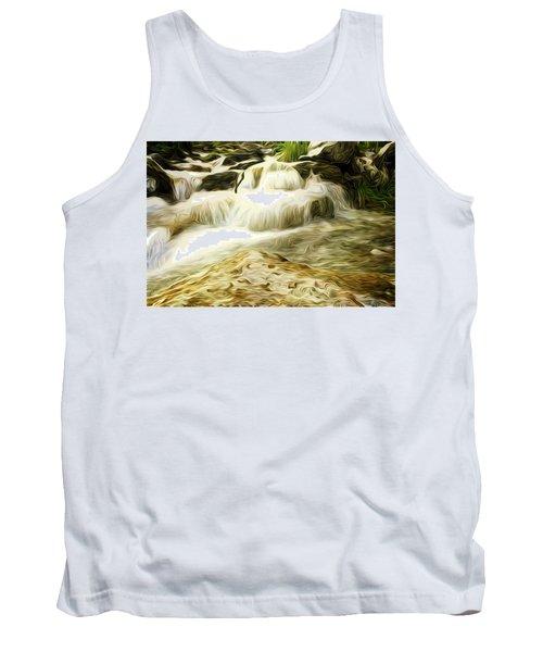 Golden Waterfall Tank Top