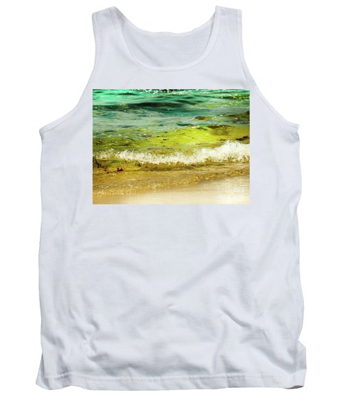 Golden Waves At Pacific Grove California Near Lover's Point Tank Top