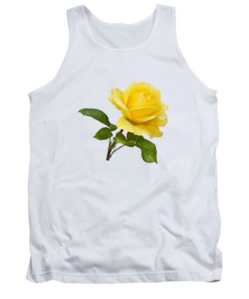 Tank Top featuring the photograph Golden Yellow Rose by Jane McIlroy