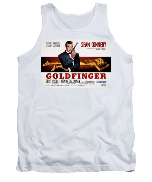 Goldfinger James Bond French Lobby Poster Painterly Tank Top