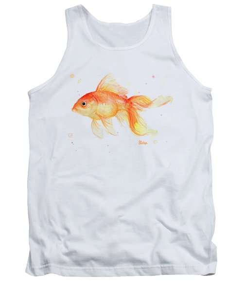 Goldfish Painting Watercolor Tank Top