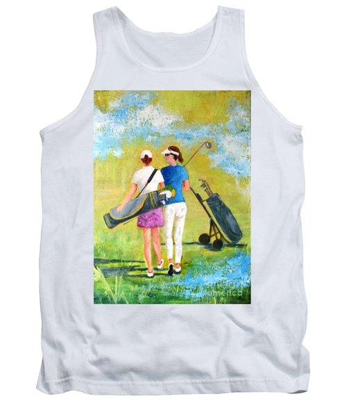 Golf Buddies #1 Tank Top by Betty M M Wong