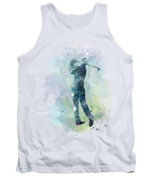 Golf Player  Tank Top by Marlene Watson