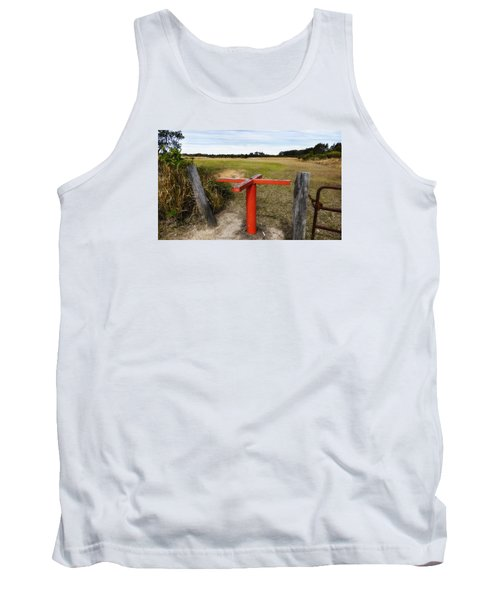 Tank Top featuring the photograph Golf Range 01 by Kevin Chippindall