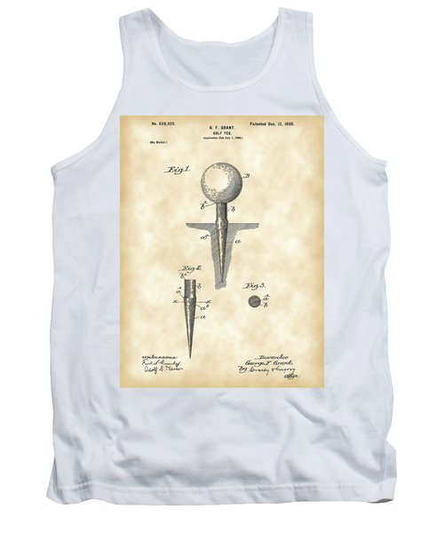 Golf Tee Patent 1899 - Vintage Tank Top by Stephen Younts