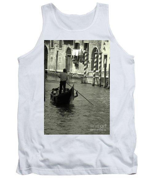 Gondolier In Venice   Tank Top