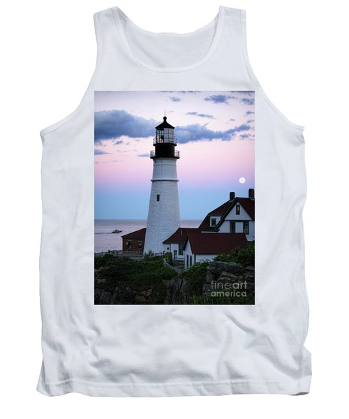 Goodnight Moon, Goodnight Lighthouse  -98588 Tank Top by John Bald