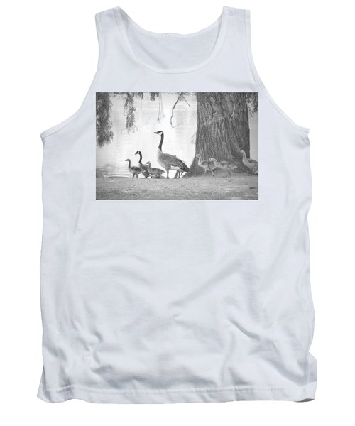 Tank Top featuring the photograph Goose Family  by Clarice Lakota