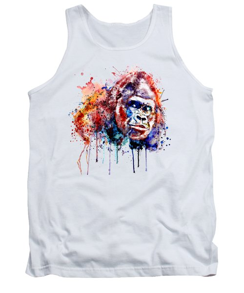 Tank Top featuring the mixed media Gorilla by Marian Voicu