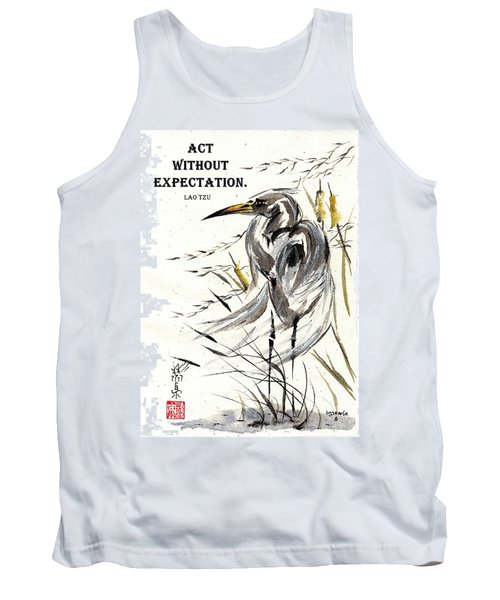 Grace Of Solitude With Lao Tzu Quote II Tank Top by Bill Searle