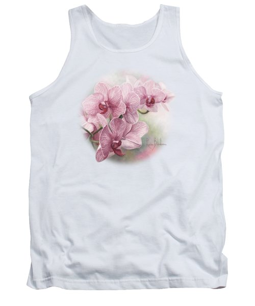 Graceful Orchids Tank Top by Lucie Bilodeau