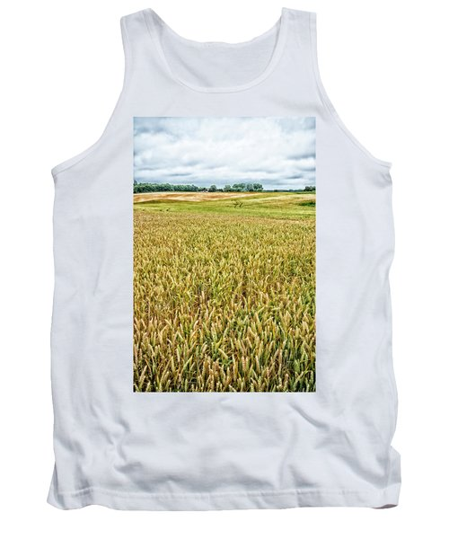 Tank Top featuring the photograph Grain Field by Hans Engbers