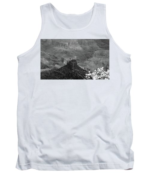 Tank Top featuring the photograph Grand Canyon 4 In Black And White by Debby Pueschel