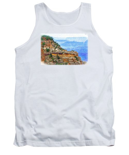 Grand Canyon Overlook Sketched Tank Top by Kirt Tisdale