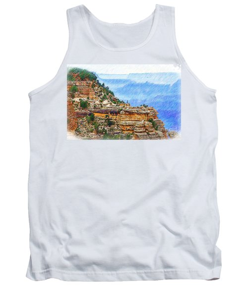 Grand Canyon Overlook Sketched Tank Top