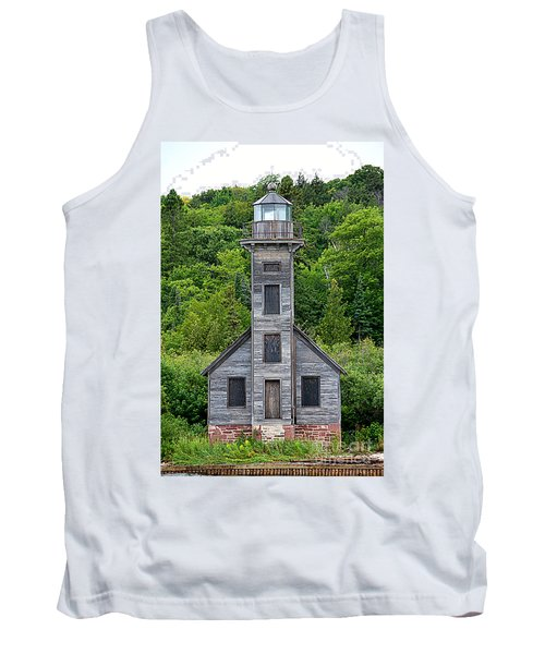 Tank Top featuring the photograph Grand Island East Channel Lighthouse #6672 by Mark J Seefeldt