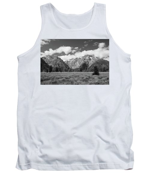 Grand Tetons In Black And White Tank Top