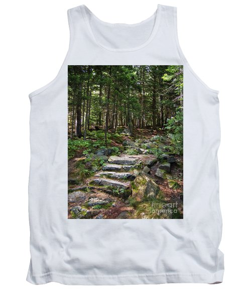 Granite Steps, Camden Hills State Park, Camden, Maine -43933 Tank Top by John Bald