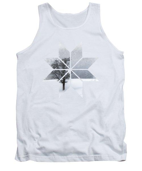 Graphic Art Snowflake Lonely Tree Tank Top by Melanie Viola