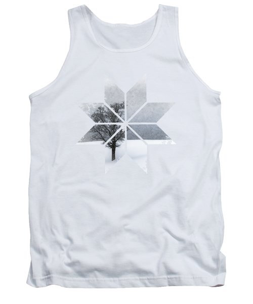 Graphic Art Snowflake Lonely Tree Tank Top