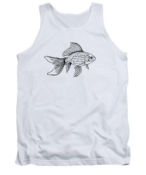 Graphic Fish Tank Top