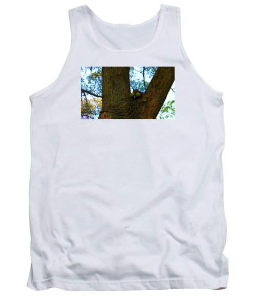 Tank Top featuring the photograph Grateful Tree Squirrel by Michael Rucker