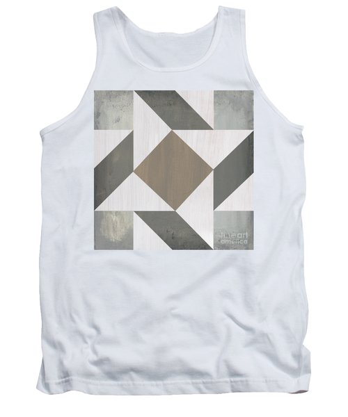 Tank Top featuring the painting Gray Quilt by Debbie DeWitt