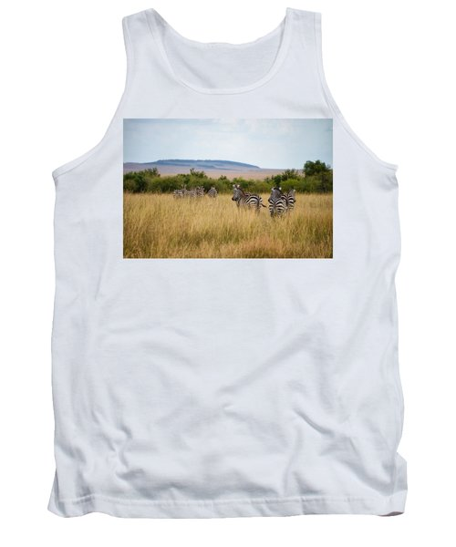 Grazing Zebras Tank Top