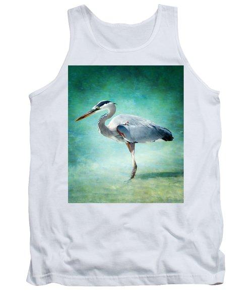 Great Blue Heron Tank Top by Ellen Heaverlo