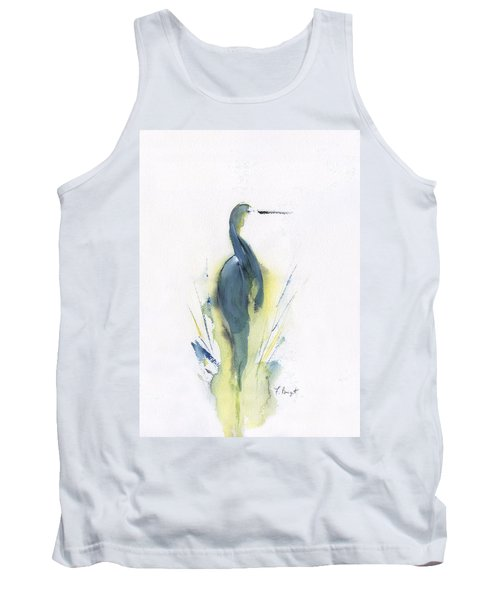 Blue Heron Turning Tank Top