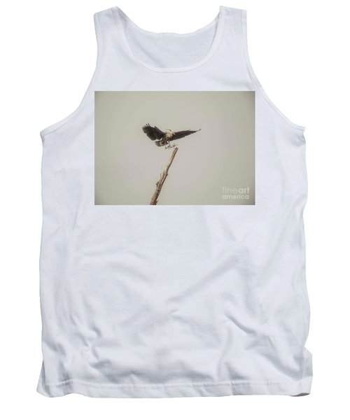 Tank Top featuring the photograph Great Blue Landing by David Bearden