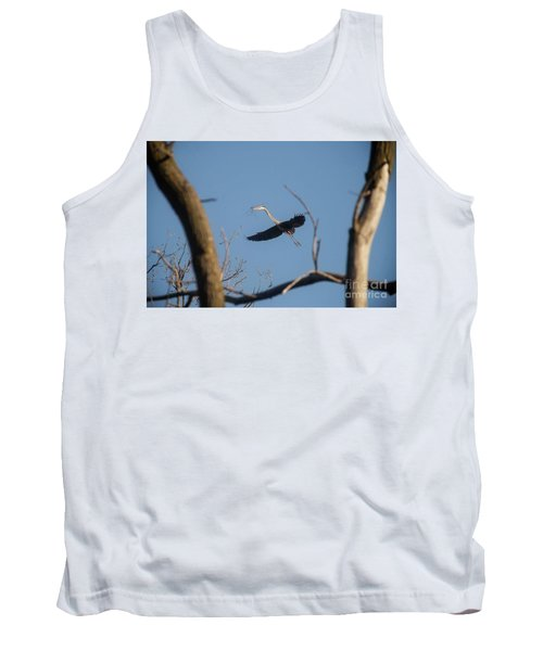 Tank Top featuring the photograph Great Blues Nesting by David Bearden
