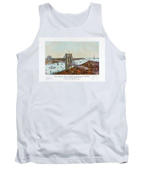 Great East River Suspension Bridge 1892 Tank Top