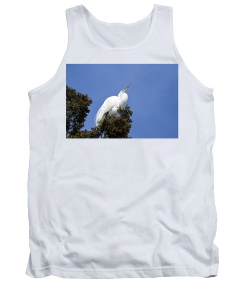 Great Egret Tank Top by Gary Wightman