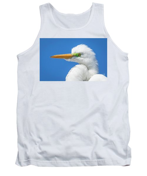 Great Egret Profile Tank Top by John Roberts