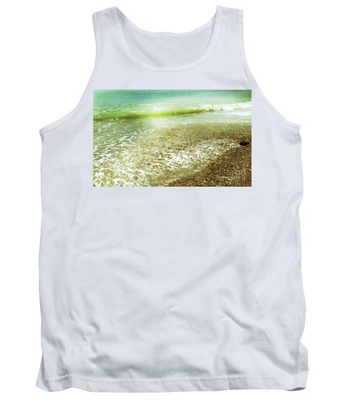 Green And Yellow Waves At Montana De Oro Beach In Spooners Cove Tank Top