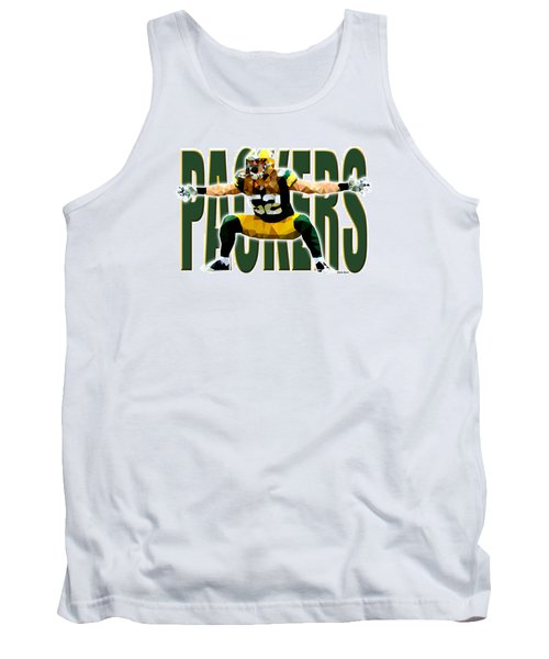 Tank Top featuring the digital art Green Bay Packers by Stephen Younts