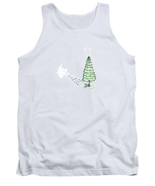 Green Bead Christmas Tree II Tank Top
