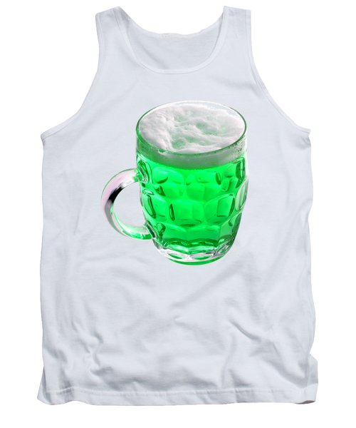 Green Beer Tank Top by Stephanie Brock