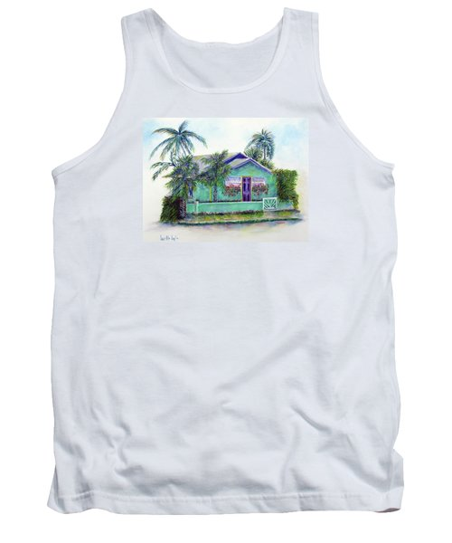 Green Cottage Tank Top