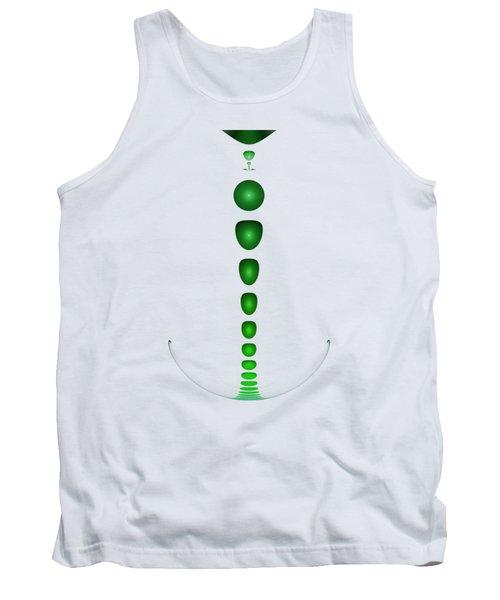 Green Drop Tank Top